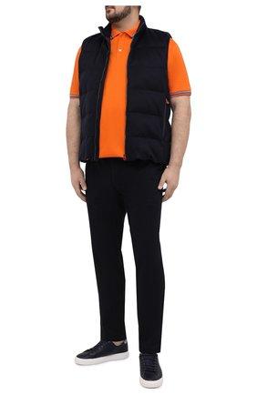 Мужское хлопковое поло PAUL&SHARK оранжевого цвета, арт. 21411298/C00/3XL-6XL | Фото 2