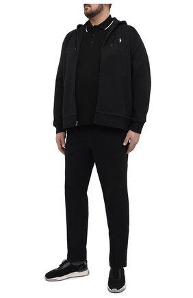 Мужское хлопковое поло PAUL&SHARK черного цвета, арт. 21411304/C00/3XL-6XL | Фото 2