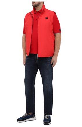 Мужское хлопковое поло PAUL&SHARK красного цвета, арт. 21411313/C00/3XL-6XL | Фото 2
