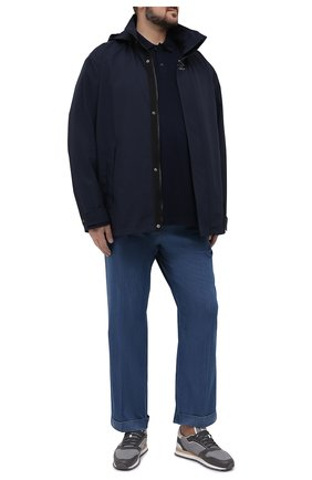 Мужское хлопковое поло PAUL&SHARK темно-синего цвета, арт. 21411343/C00/3XL-6XL | Фото 2