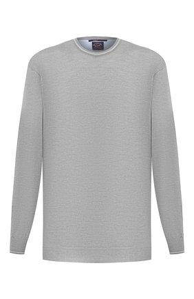 Мужской шерстяной джемпер PAUL&SHARK серого цвета, арт. 21411521/FLV/3XL-6XL | Фото 1