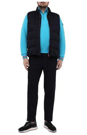 Мужской шерстяной джемпер PAUL&SHARK бирюзового цвета, арт. 21411605/FLV/3XL-6XL | Фото 2