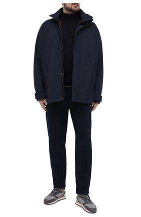 Мужской шерстяной джемпер PAUL&SHARK темно-синего цвета, арт. 21411605/FLV/3XL-6XL | Фото 2