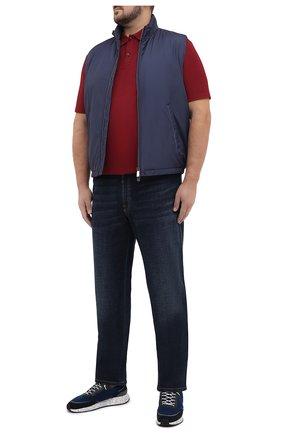 Мужское хлопковое поло PAUL&SHARK бордового цвета, арт. C0P1000/C00/3XL-6XL | Фото 2