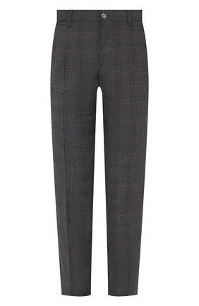 Мужские шерстяные брюки DOLCE & GABBANA серого цвета, арт. GY7BMT/FQ2LQ | Фото 1