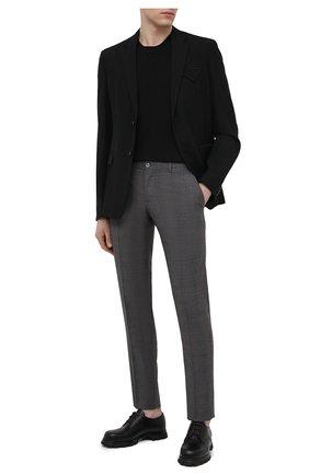 Мужские шерстяные брюки DOLCE & GABBANA серого цвета, арт. GY7BMT/FQ2LQ | Фото 2