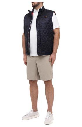Мужские хлопковые шорты POLO RALPH LAUREN бежевого цвета, арт. 711644995/PRL BS | Фото 2