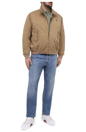 Мужская хлопковая рубашка POLO RALPH LAUREN зеленого цвета, арт. 711654408/C7998/PRL BS | Фото 2