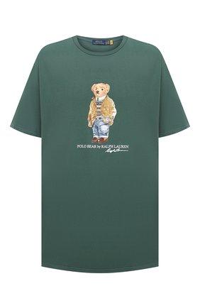 Мужская хлопковая футболка POLO RALPH LAUREN зеленого цвета, арт. 711829161/PRL BS | Фото 1