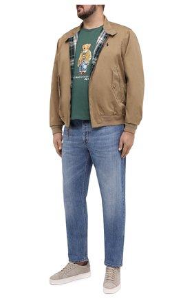 Мужская хлопковая футболка POLO RALPH LAUREN зеленого цвета, арт. 711829161/PRL BS | Фото 2