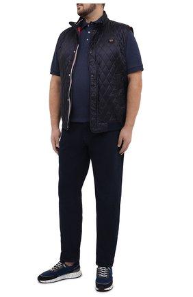 Мужское хлопковое поло POLO RALPH LAUREN синего цвета, арт. 711660606/PRL BS | Фото 2