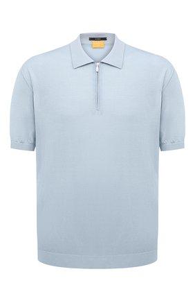 Мужское шелковое поло SVEVO голубого цвета, арт. 3501/BSE20L/MP35 | Фото 1