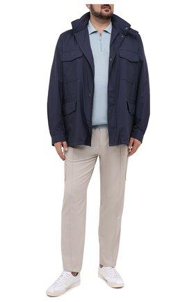 Мужское шелковое поло SVEVO голубого цвета, арт. 3501/BSE20L/MP35 | Фото 2