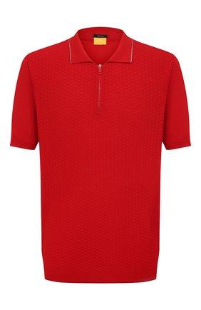 Мужское хлопковое поло SVEVO красного цвета, арт. 82158SE20L/MP0002 | Фото 1