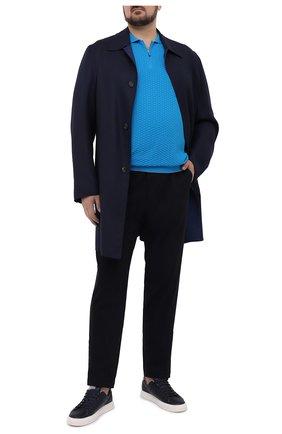 Мужское хлопковое поло SVEVO бирюзового цвета, арт. 82158SE20L/MP0002 | Фото 2