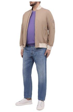 Мужской хлопковый джемпер SVEVO сиреневого цвета, арт. 82159SE20L/MP0002 | Фото 2