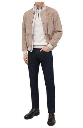 Мужские кожаные ботинки ZILLI коричневого цвета, арт. MDU-A095/003 | Фото 2 (Материал внутренний: Текстиль; Мужское Кросс-КТ: Дезерты-обувь, Ботинки-обувь; Подошва: Массивная)