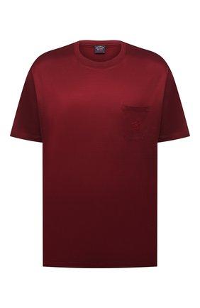 Мужская хлопковая футболка PAUL&SHARK бордового цвета, арт. C0P1011/C00/3XL-6XL | Фото 1