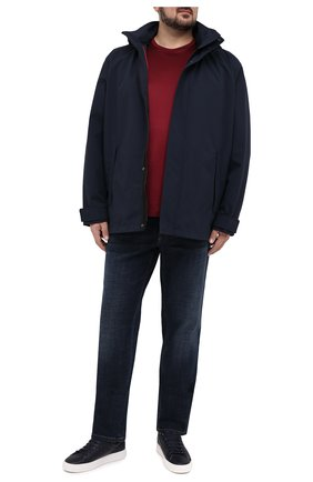Мужская хлопковая футболка PAUL&SHARK бордового цвета, арт. C0P1011/C00/3XL-6XL | Фото 2