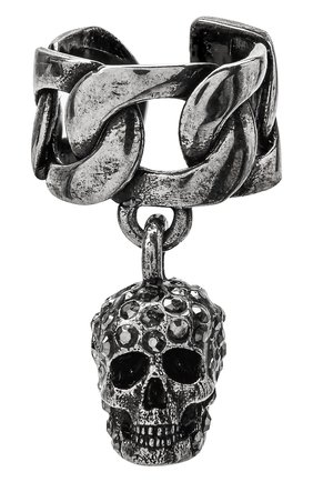 Женские кафф ALEXANDER MCQUEEN серебряного цвета, арт. 650461/J160Y | Фото 1