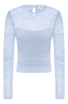 Женский пуловер ALEXANDER MCQUEEN голубого цвета, арт. 652456/Q1ATQ | Фото 1