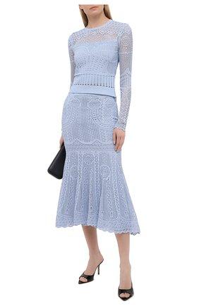 Женский пуловер ALEXANDER MCQUEEN голубого цвета, арт. 652456/Q1ATQ | Фото 2