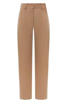 Женские кожаные брюки DROME бежевого цвета, арт. DPD1947P/D400P | Фото 1