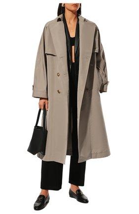 Женские кожаные лоферы TOD'S черного цвета, арт. XXW35B0ED10TRP | Фото 2