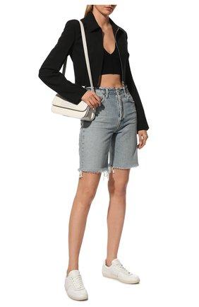 Женские кожаные кеды TOD'S белого цвета, арт. XXW68C0DP300V7 | Фото 2