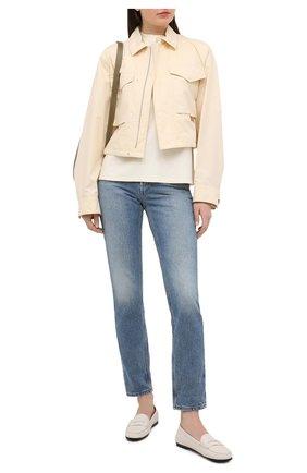 Женские кожаные мокасины TOD'S бежевого цвета, арт. XXW74B00010TJS | Фото 2