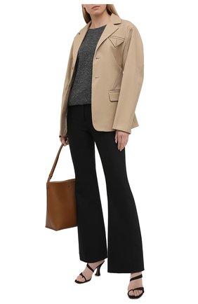 Женский пуловер из кашемира и шелка BRUNELLO CUCINELLI темно-серого цвета, арт. MAI198910 | Фото 2