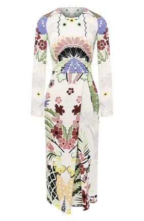 Женское шелковое платье VALENTINO разноцветного цвета, арт. VB3VAV3167G | Фото 1