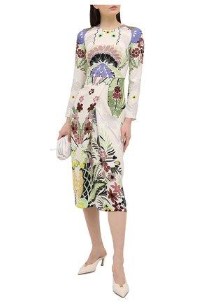 Женское шелковое платье VALENTINO разноцветного цвета, арт. VB3VAV3167G | Фото 2