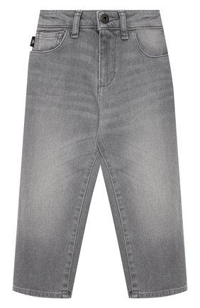 Детские джинсы EMPORIO ARMANI серого цвета, арт. 3K4J10/4D2NZ   Фото 1