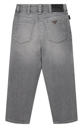 Детские джинсы EMPORIO ARMANI серого цвета, арт. 3K4J10/4D2NZ   Фото 2