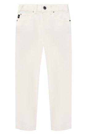 Детские джинсы EMPORIO ARMANI белого цвета, арт. 3K4J45/3N4FZ   Фото 1