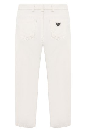 Детские джинсы EMPORIO ARMANI белого цвета, арт. 3K4J45/3N4FZ   Фото 2