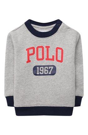 Детский комплект из свитшота и брюк POLO RALPH LAUREN серого цвета, арт. 320836008 | Фото 2
