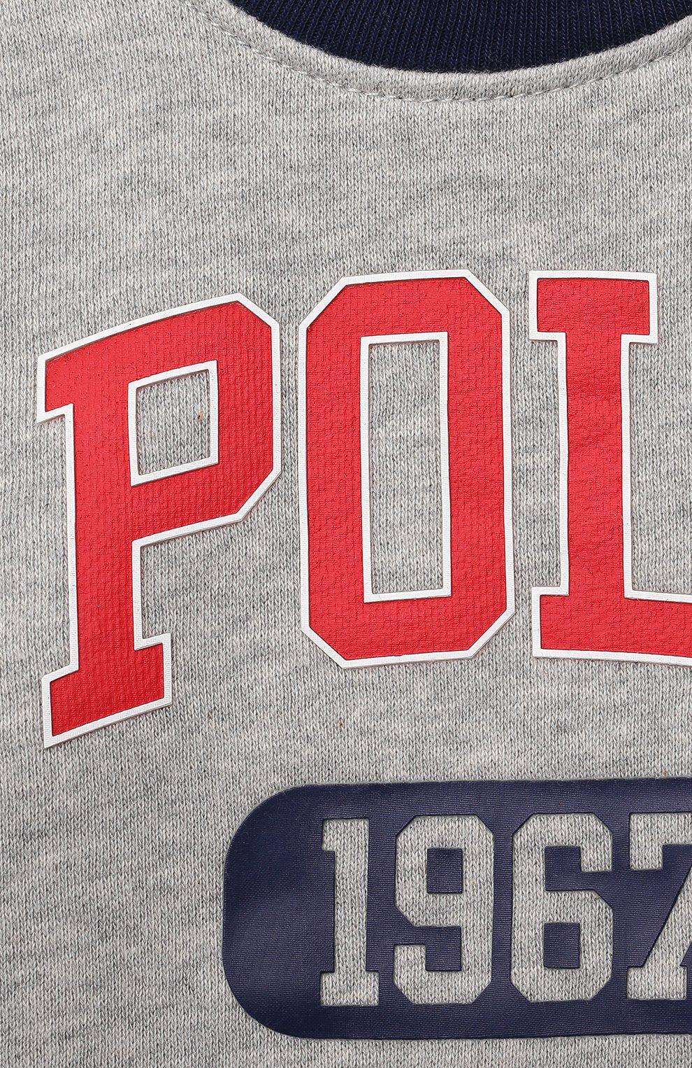 Детский комплект из свитшота и брюк POLO RALPH LAUREN серого цвета, арт. 320836008 | Фото 4