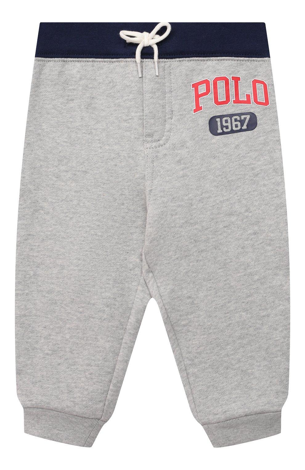 Детский комплект из свитшота и брюк POLO RALPH LAUREN серого цвета, арт. 320836008 | Фото 5