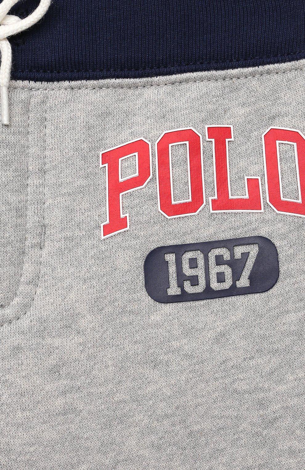 Детский комплект из свитшота и брюк POLO RALPH LAUREN серого цвета, арт. 320836008 | Фото 7