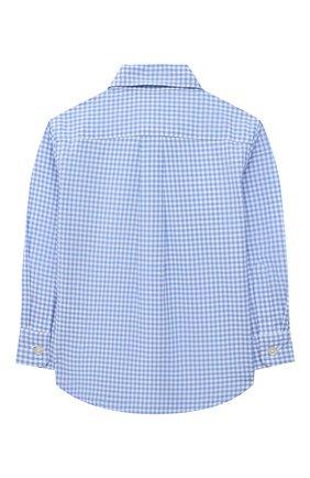 Детский хлопковая рубашка POLO RALPH LAUREN синего цвета, арт. 320833517 | Фото 2