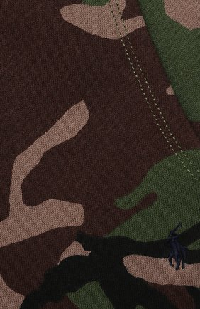 Детские хлопковые джоггеры POLO RALPH LAUREN хаки цвета, арт. 320832973   Фото 3