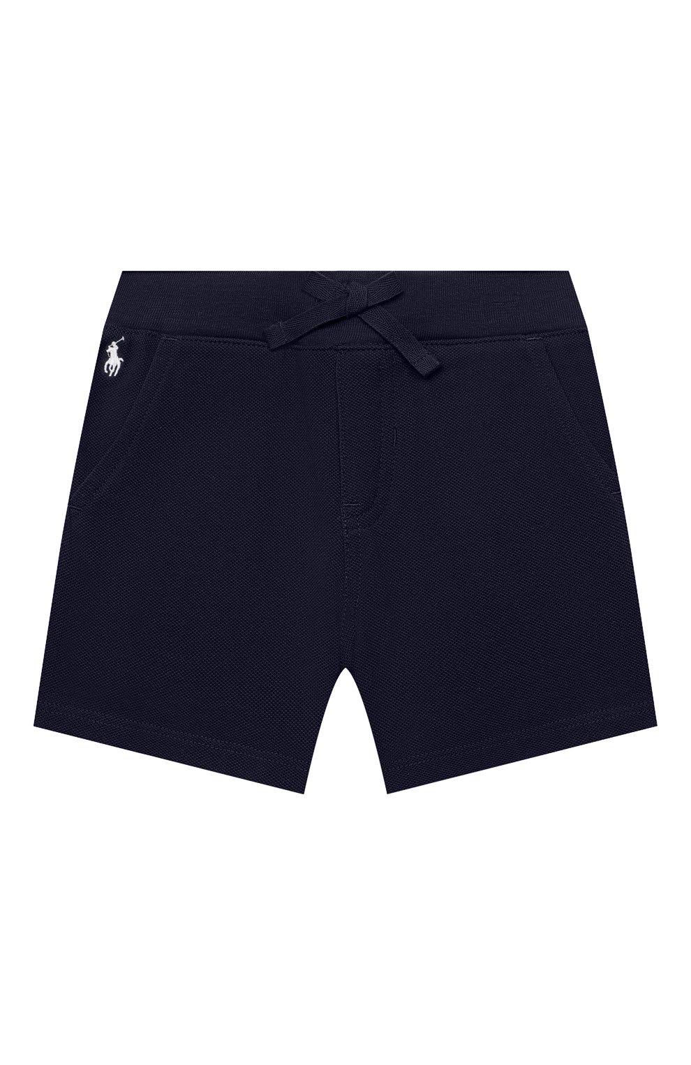 Детские хлопковые шорты POLO RALPH LAUREN синего цвета, арт. 320735048   Фото 1