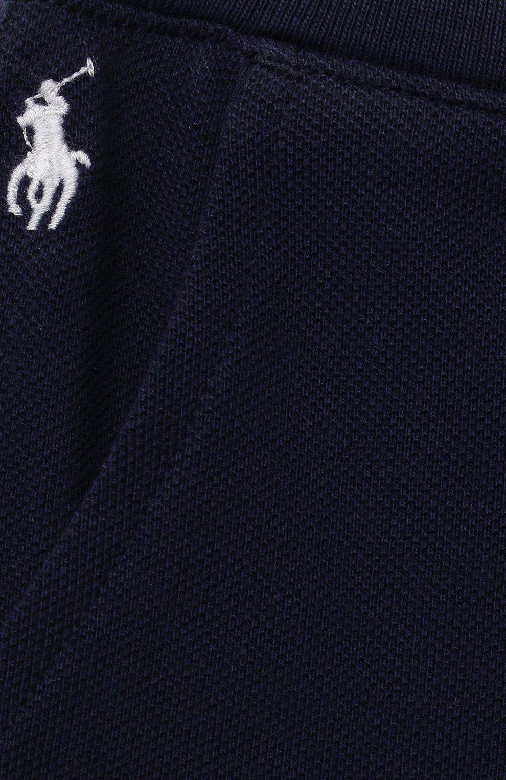 Детские хлопковые шорты POLO RALPH LAUREN синего цвета, арт. 320735048   Фото 3