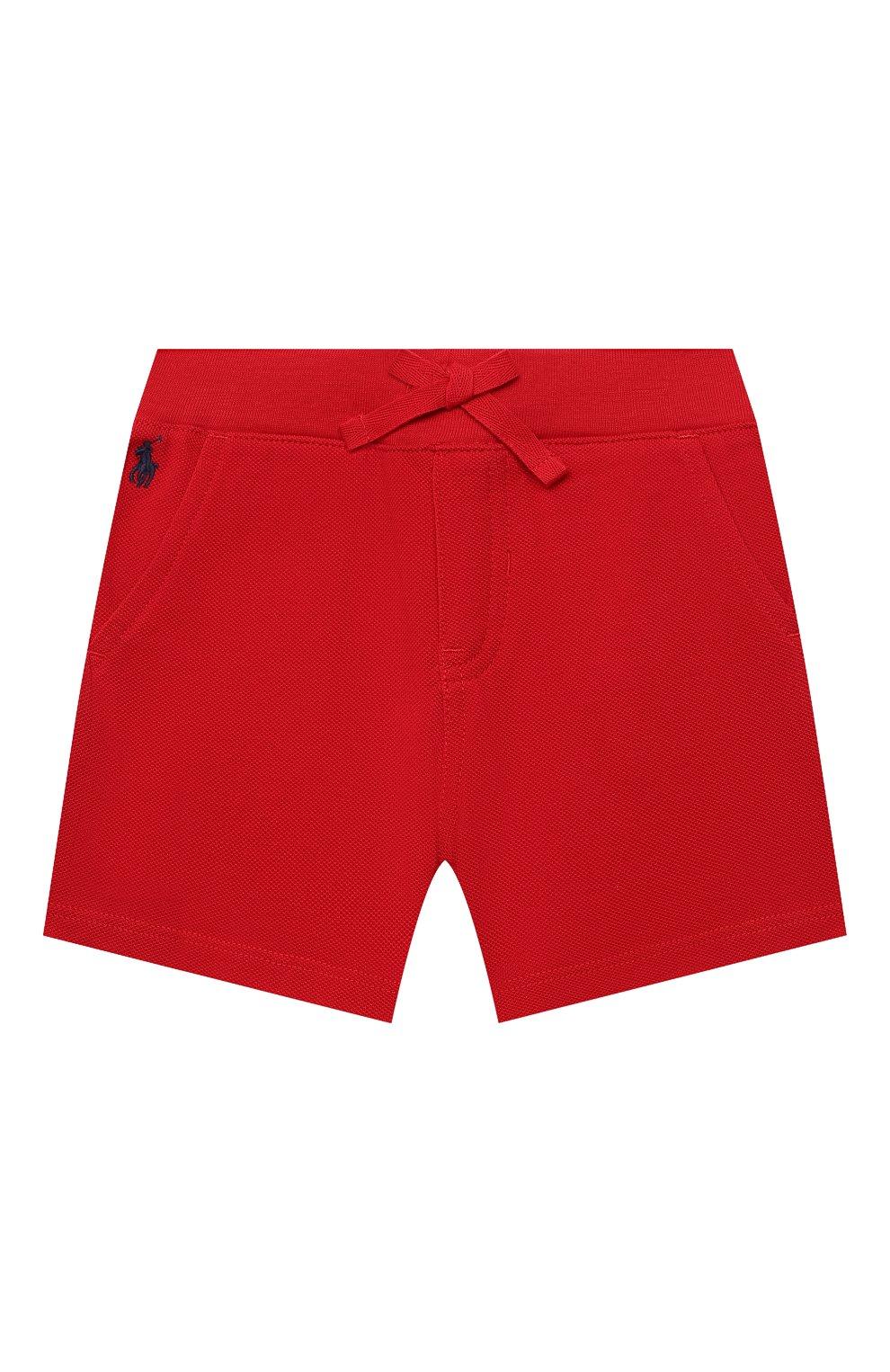 Детские хлопковые шорты POLO RALPH LAUREN красного цвета, арт. 320735048   Фото 1