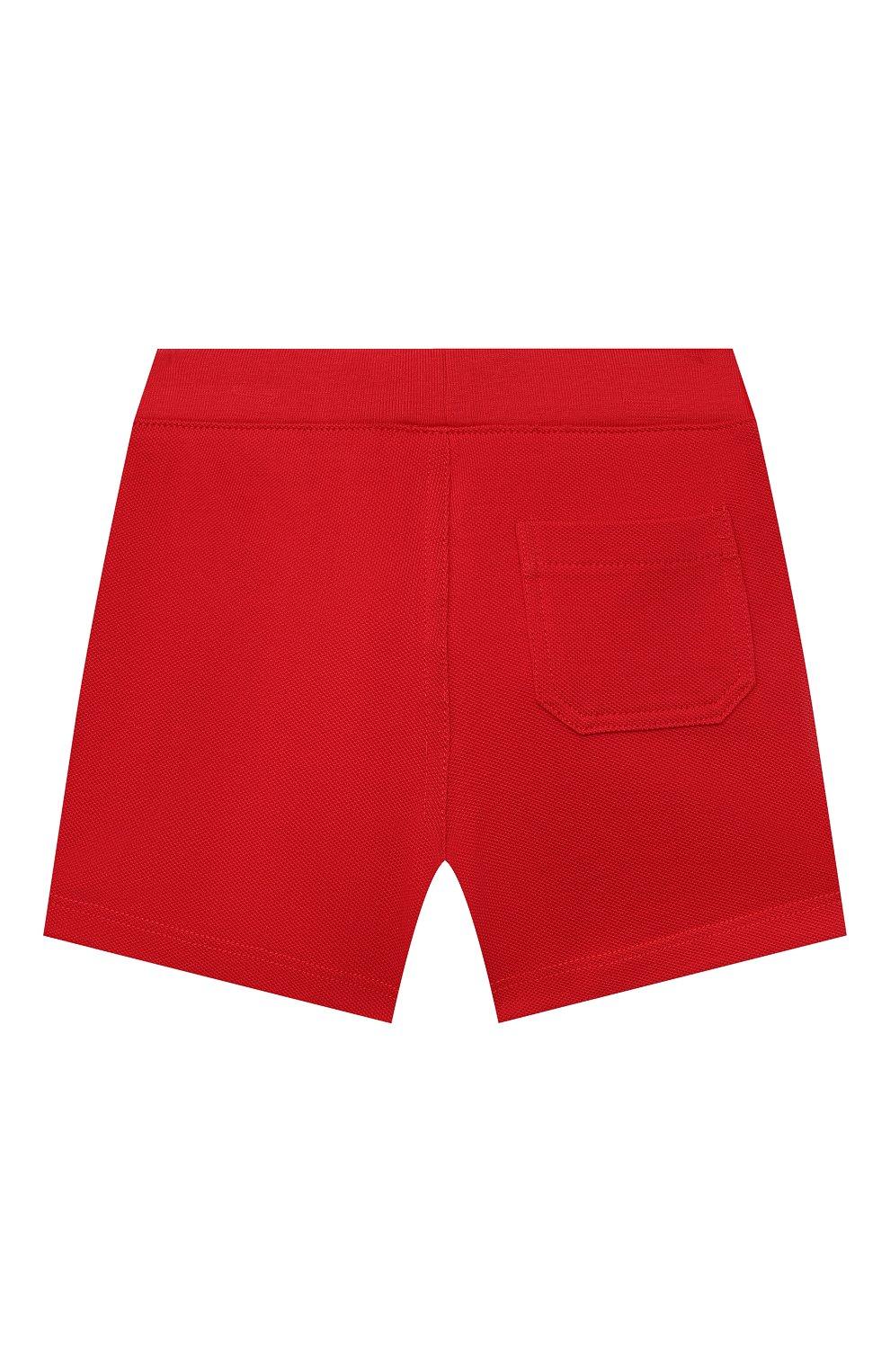 Детские хлопковые шорты POLO RALPH LAUREN красного цвета, арт. 320735048   Фото 2
