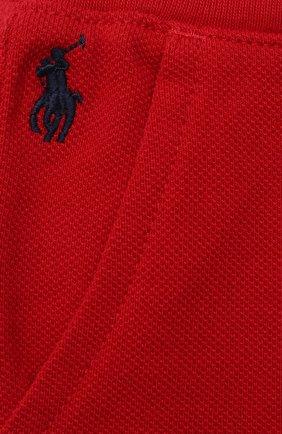 Детские хлопковые шорты POLO RALPH LAUREN красного цвета, арт. 320735048   Фото 3