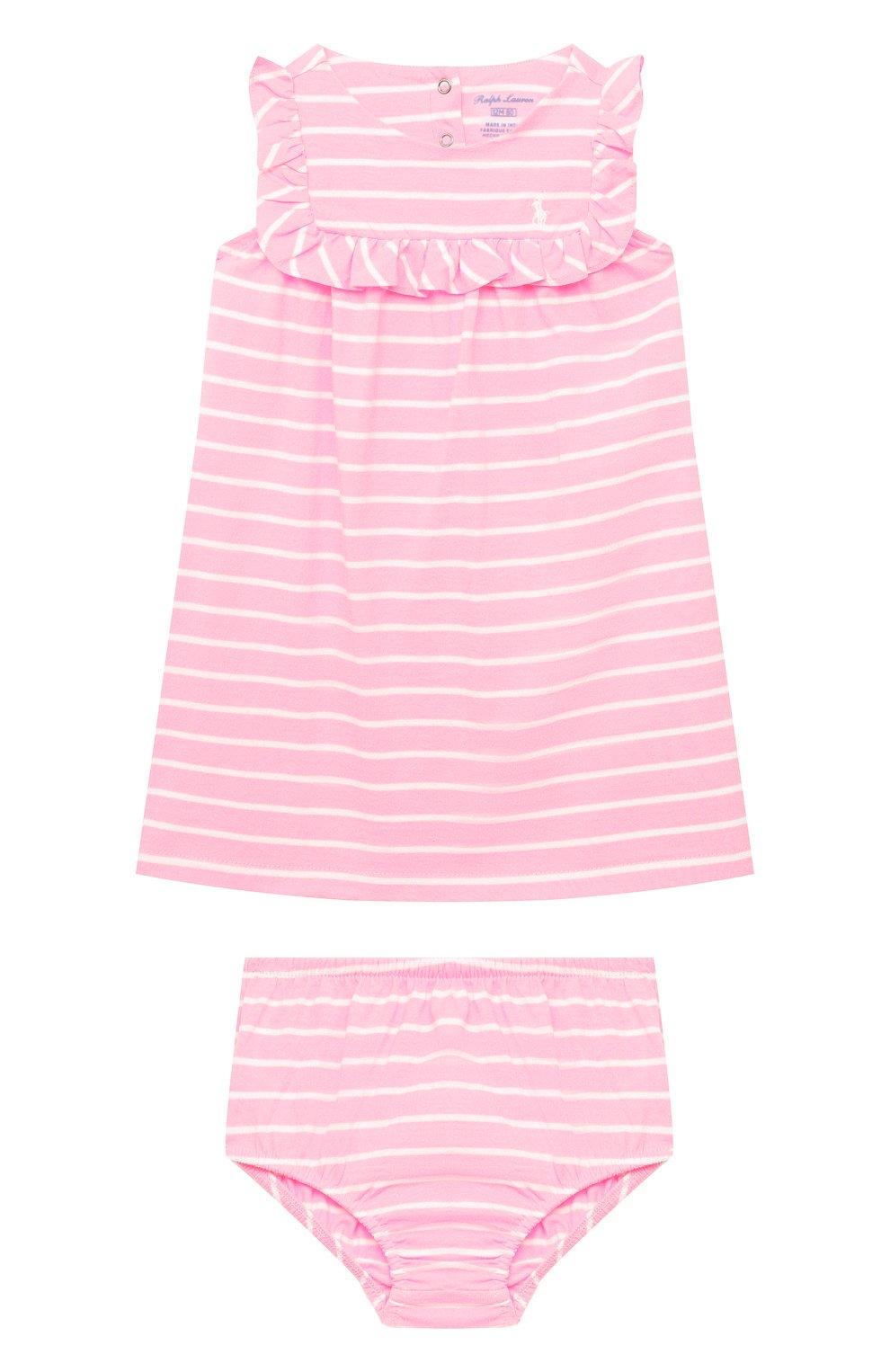 Женский комплект из платья и шорт POLO RALPH LAUREN розового цвета, арт. 310833390   Фото 1
