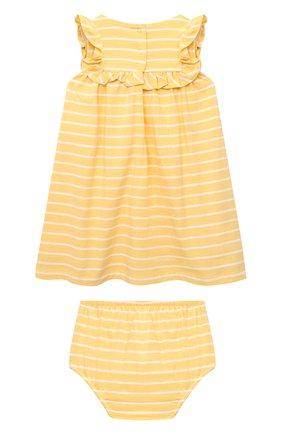 Женский комплект из платья и шорт POLO RALPH LAUREN желтого цвета, арт. 310833390 | Фото 2